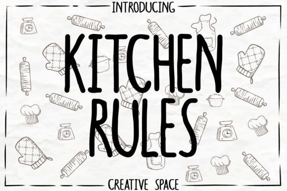 Kitchen Rules (Font) by creativespace · Creative Fabrica #kitchenrules Kitchen Rules Font by creativespace - Creative Fabrica #kitchenrules