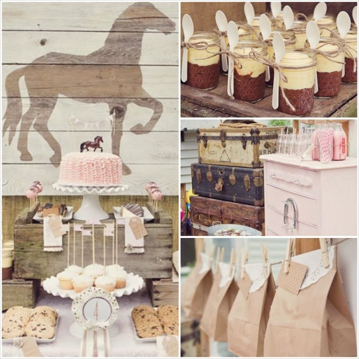 Vintage Pony Party Supplies Decor Ideas Kara Pony and Birthdays