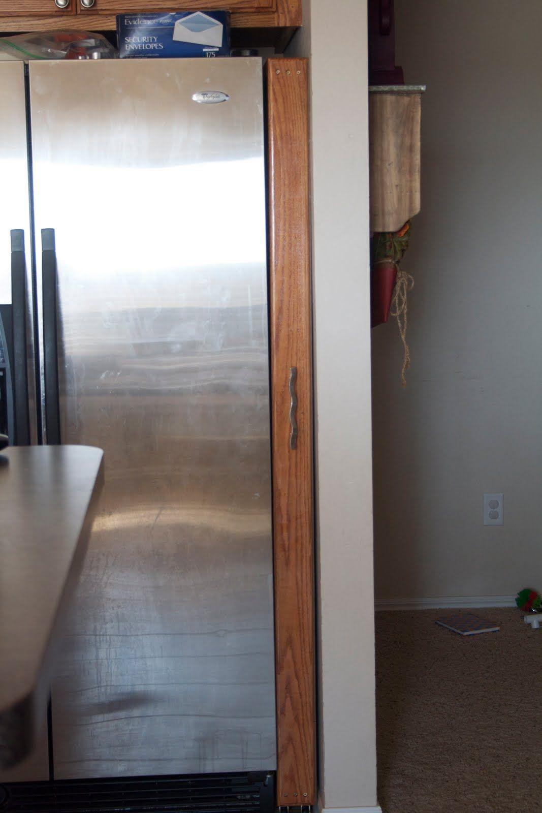 Küchenschränke um kühlschrank pullout cabinet diy completed and tutorial  diy house  pinterest