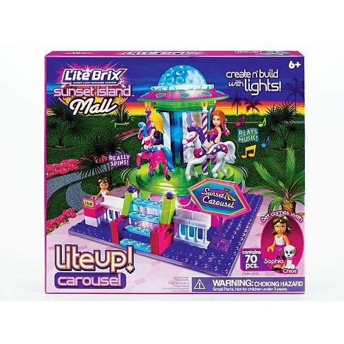 Lite Brix Lite Up Carousel $49.99 #Reviews   Black Friday Toys ...