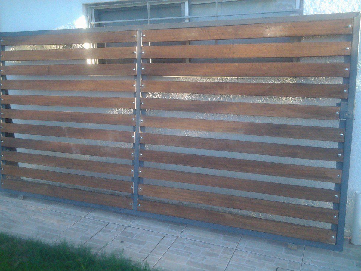 Maderas para portones exteriores puertas de entrada de for Como hacer un porton de madera economico