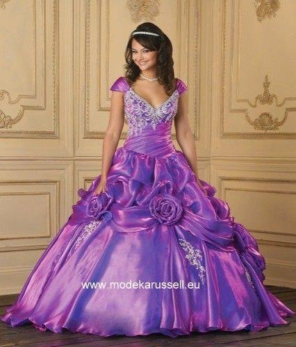 abendkleid ballkleid mit trägern in lila flider violett