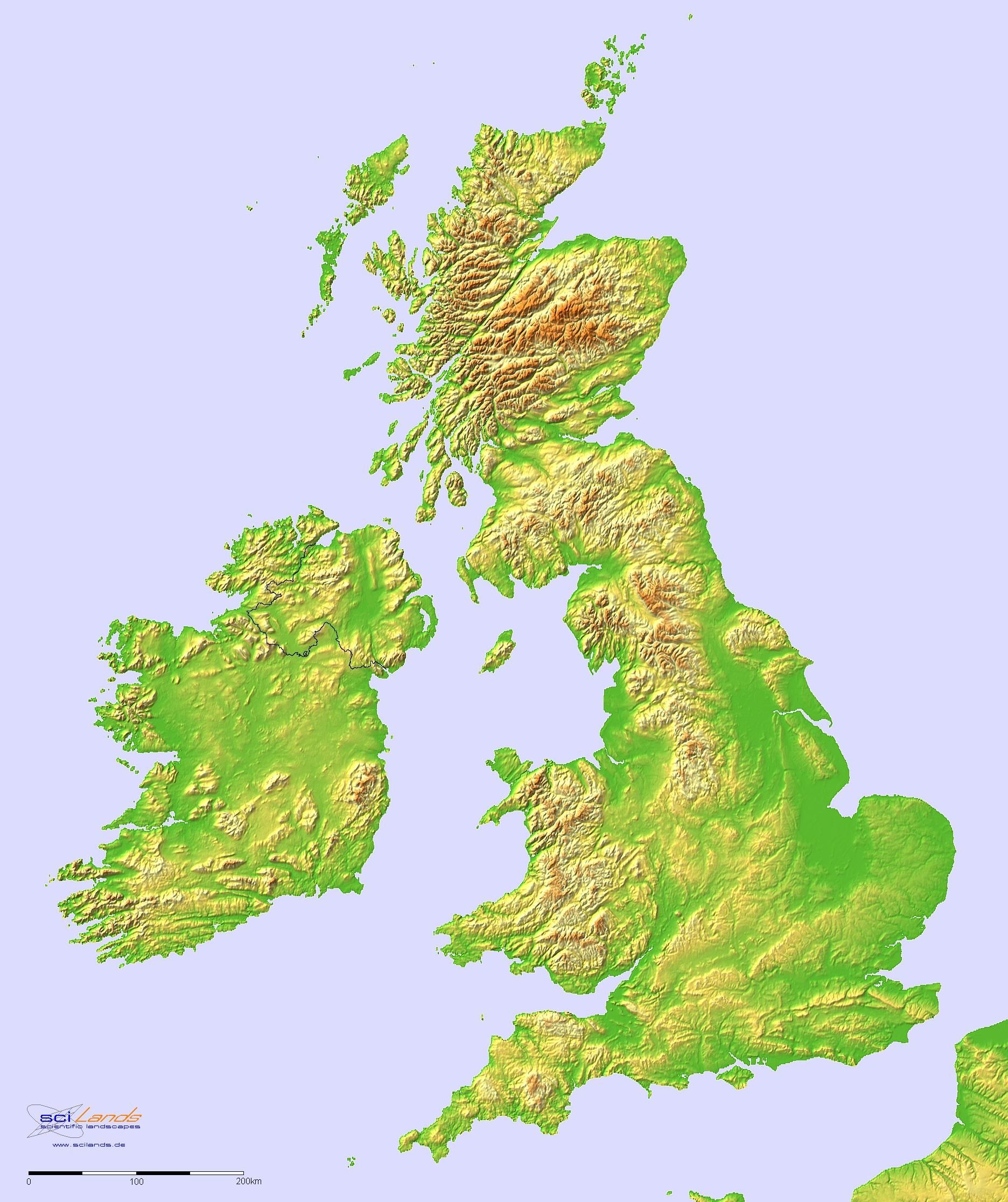 Altitude Map Uk Altitude map of the UK and Ireland | +RPG Cartography and Urban