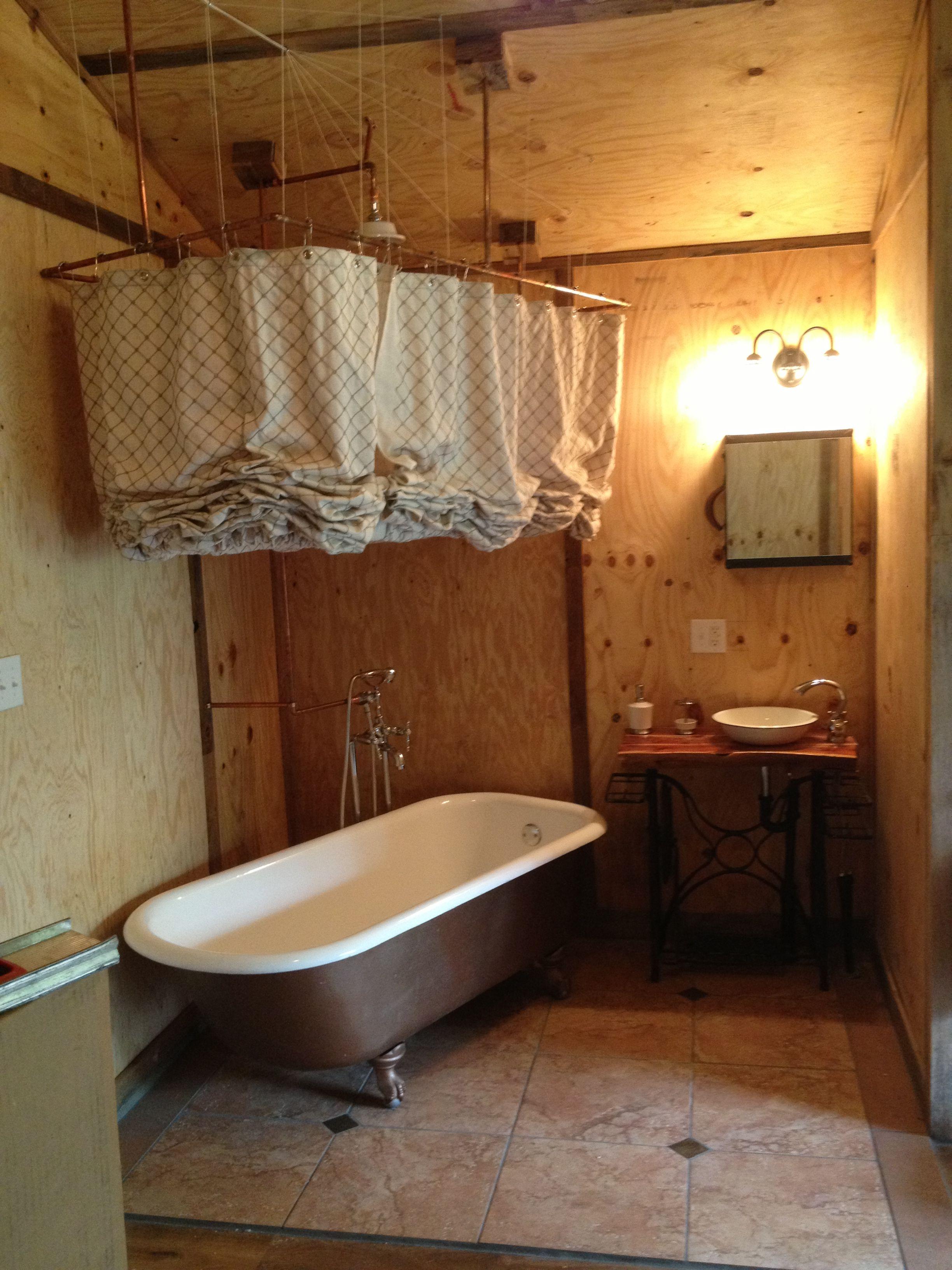 Clawfoot Tub Shower Curtain Ideas.Sewing Machine Base Cedar Log Top Sink Claw Foot Tub