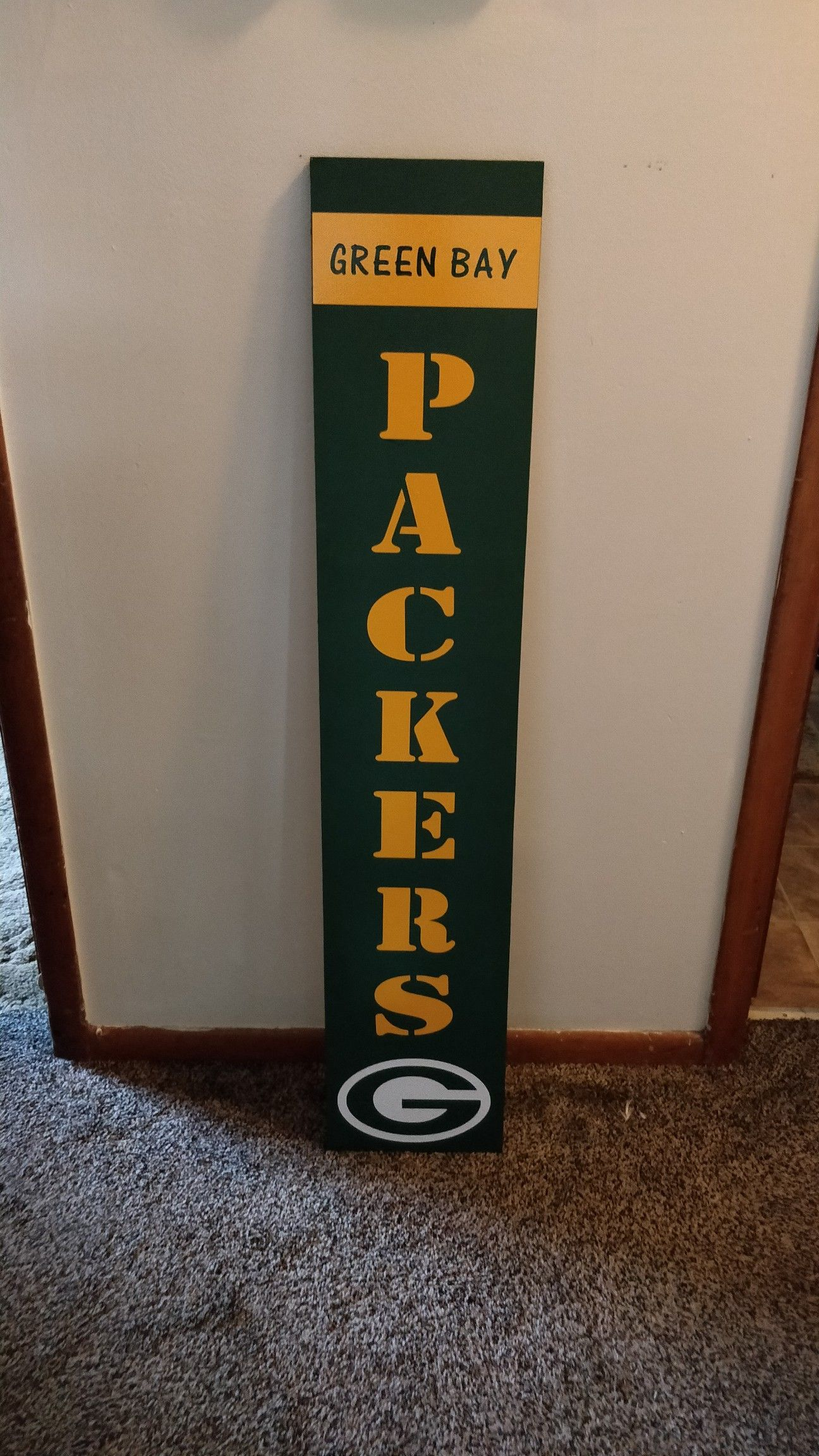 Green Bay Packers Porch Sign Green Bay Packers Crafts Green Bay Packers Decor Green Bay Packers