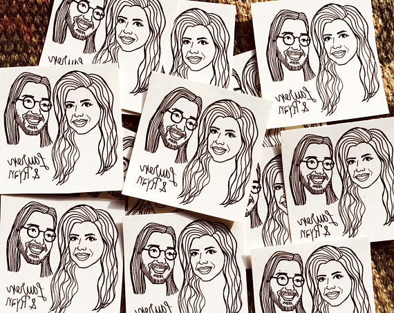 Custom Wedding Favors Guest Portrait Tattoos Personalized Temporary S Portraits