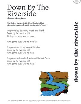 Peace Songs For Kids Down By The Riverside Song And Lyrics