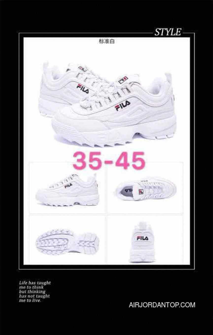 Support In South Korea 2 Generations FILA Disruptor II Indented Height  Increasing All White Discount   c6b3a1c2cd