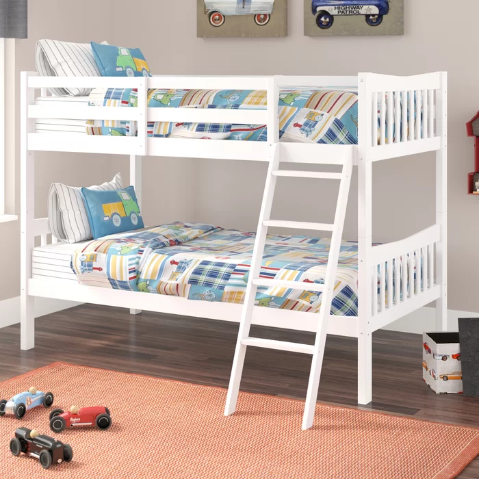 Viv Rae Westerman Twin Over Twin Bunk Bed Reviews Wayfair In 2020 Twin Bunk Beds Kids Bunk Beds Bunk Bed Designs