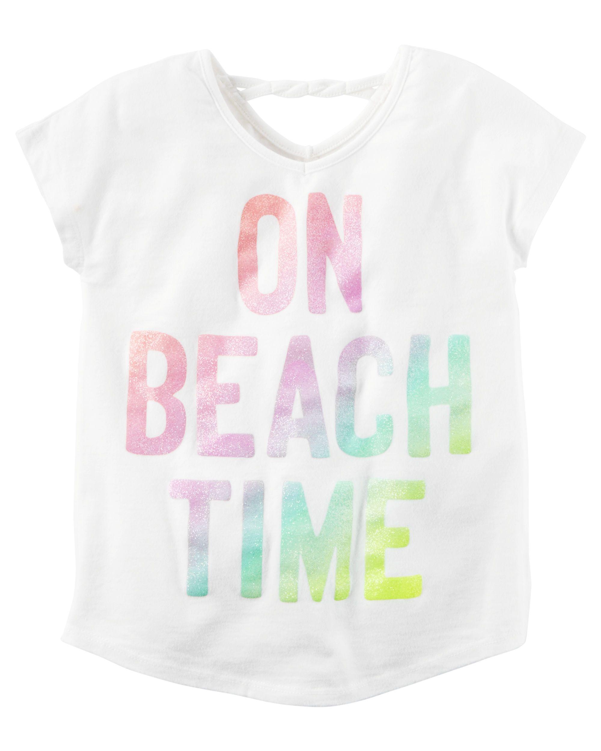 Beach Time Glitter Tee