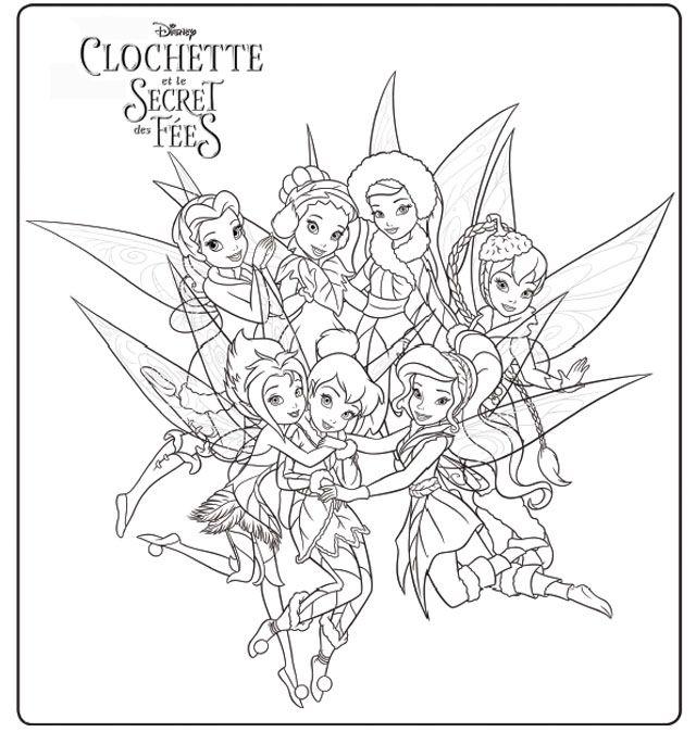 Coloriage_Clochette-et-les-fées.jpg (640×674) | imprimibles ...