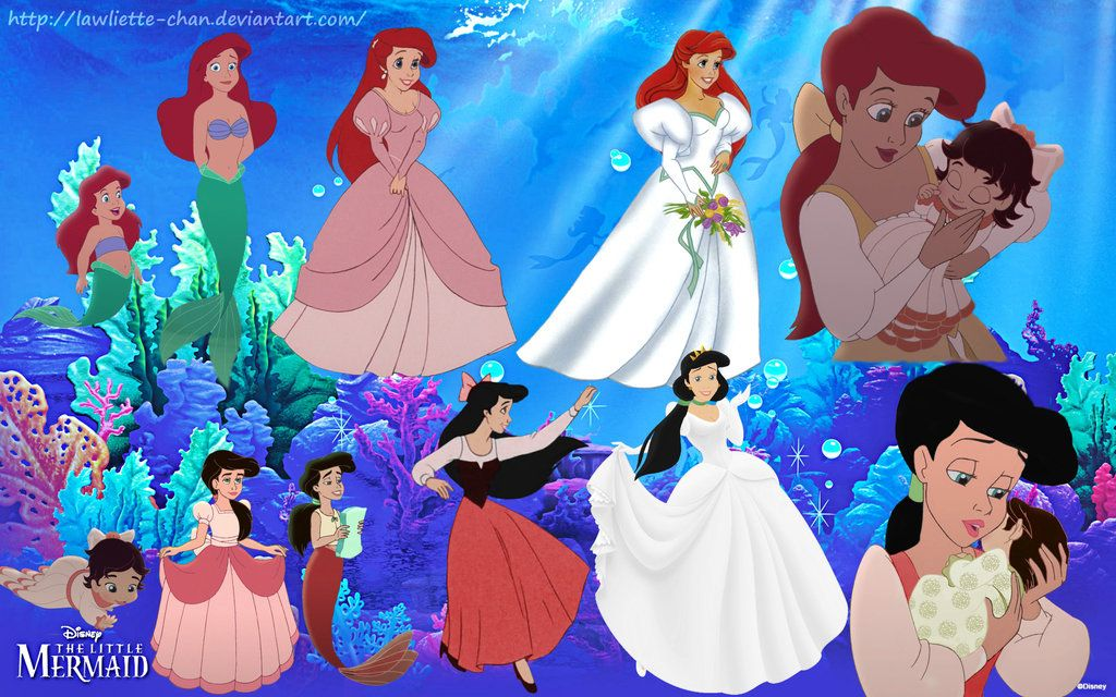 Ariel And Melody Growing Up In 2020 Disney Princesses And Princes Disney Princess Wedding Melody Little Mermaid