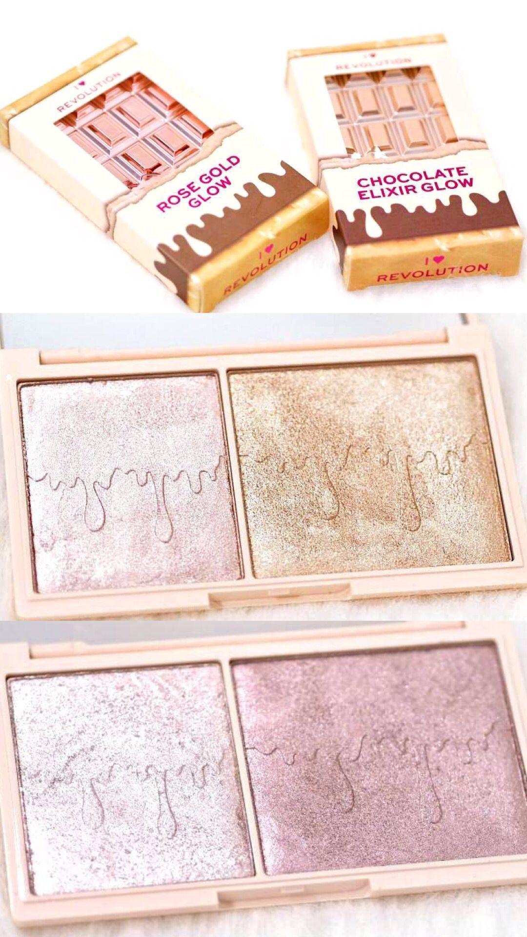 I Heart Revolution Glow Highlighter Palettes Review and