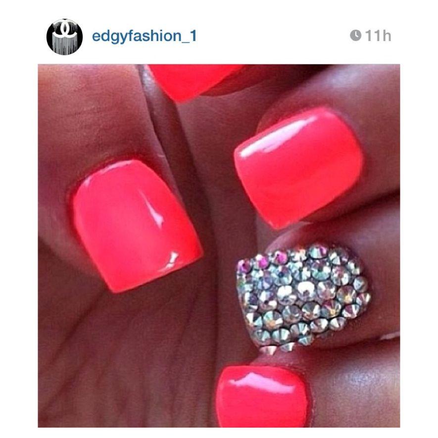 #cute #nails #design #rhinestones - Cute #nails #design #rhinestones Fly Style Pinterest Pretty