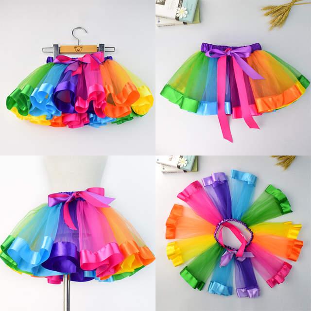 Girls Kids Women Glitter Tutu Skirt Multicolored Petticoat Ballet Dance Dress UK