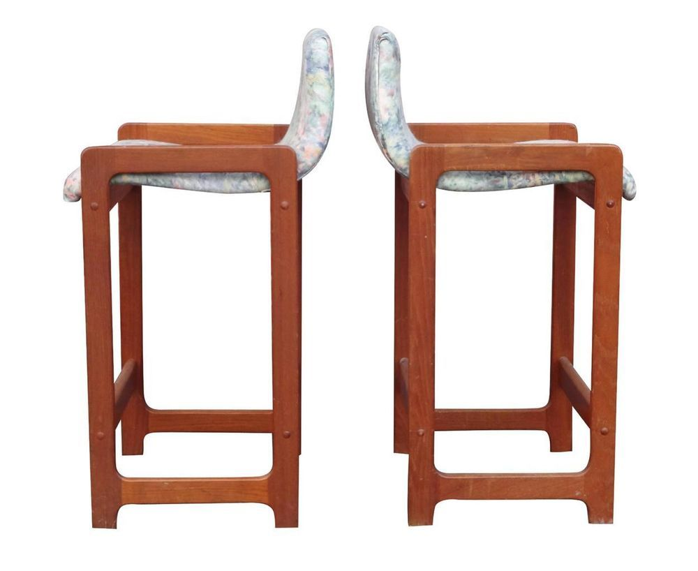 Pair Danish Modern Midcentury Teak Barstools Counter Height By Dixie  Denmark #Dixie · Grand Rapids MichiganFurniture StoresMid ...