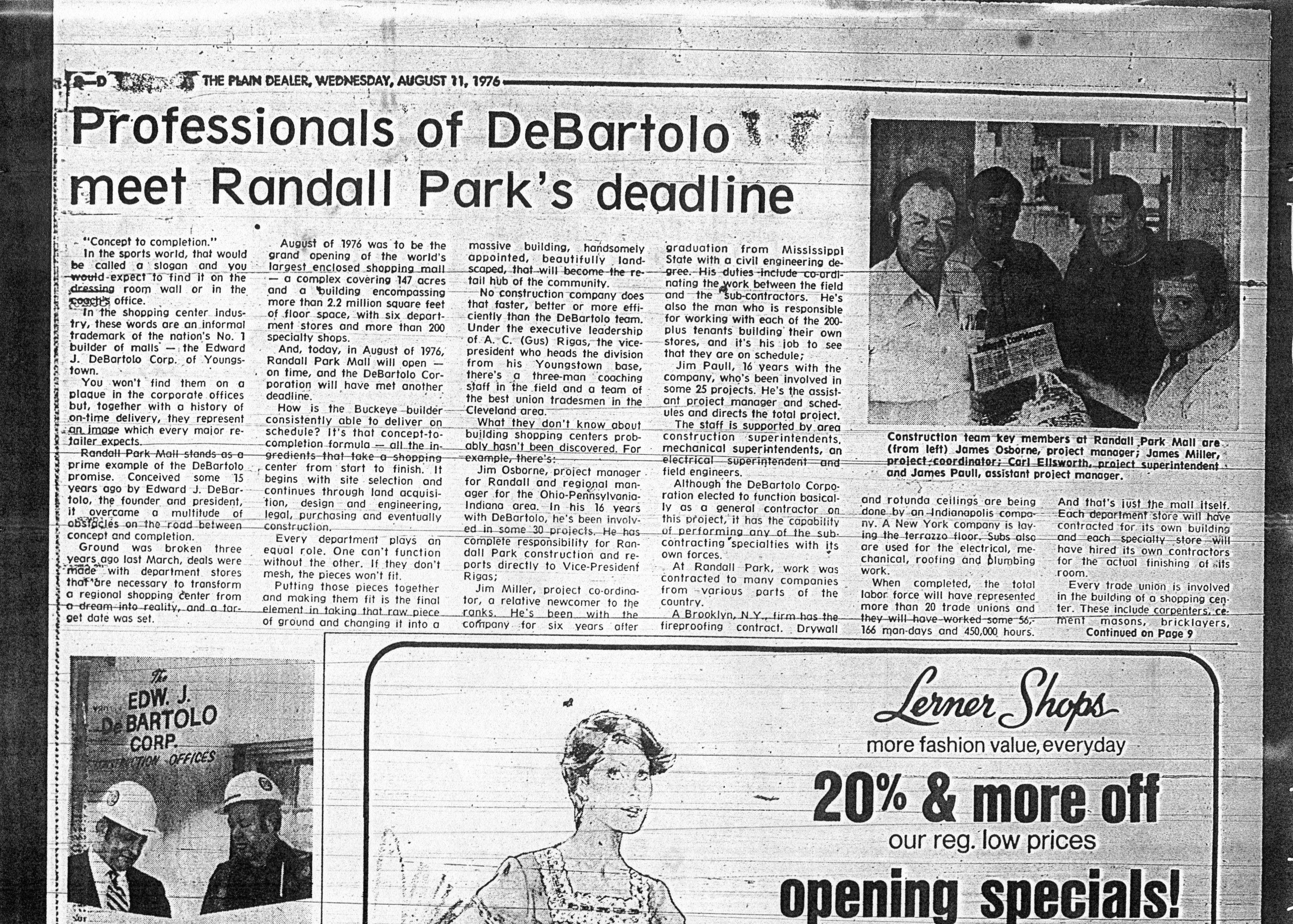 Newspaper Article Randall Park Newspaper Article Newspaper