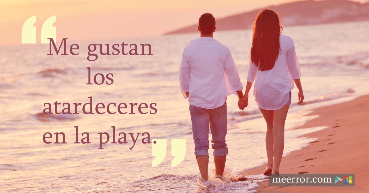 Me gustan los #atardeceres en la playa.  meerror.com
