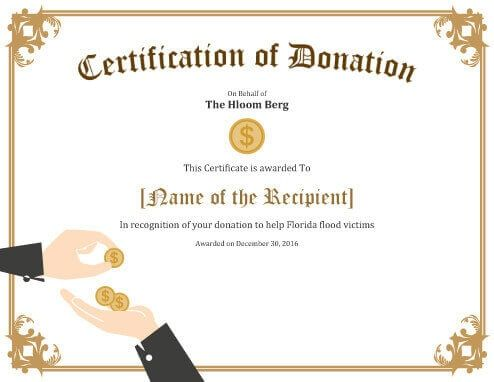 Free Certificate Template by Hloom 6yty Pinterest Free - best of donation certificate template