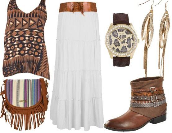 Bohème girl ! Grr !  Achetez la tenue ici : http://stylefru.it/s475873 #bobo