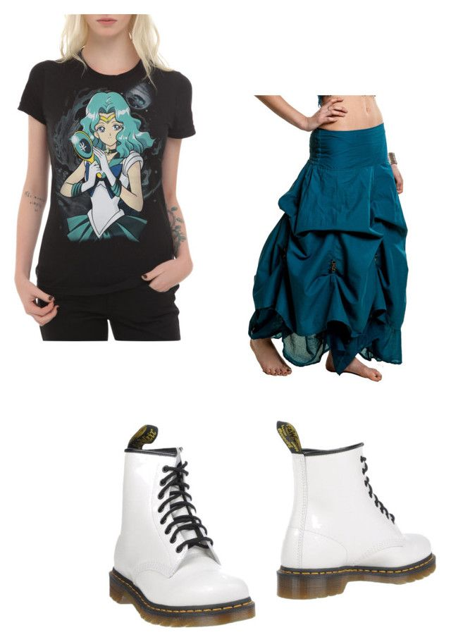 """Sailor Neptune fan"" by rocknrollqueen3 on Polyvore featuring Dr. Martens"