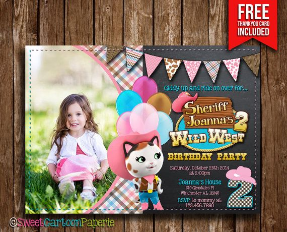 Sheriff Callie Invitation Sheriff Callie by SweetCartoonPaperie