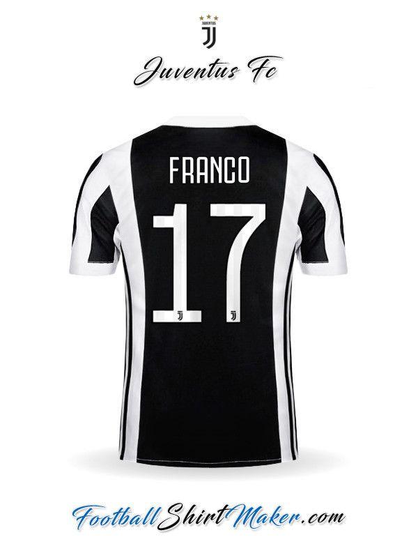 Camiseta Juventus FC 2017 2018 Franco 17  bd037718ce671