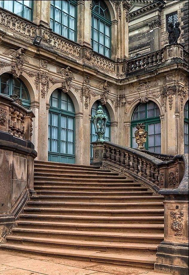 Zwinger Dresden Drs Palace Interior Beautiful Buildings Architecture
