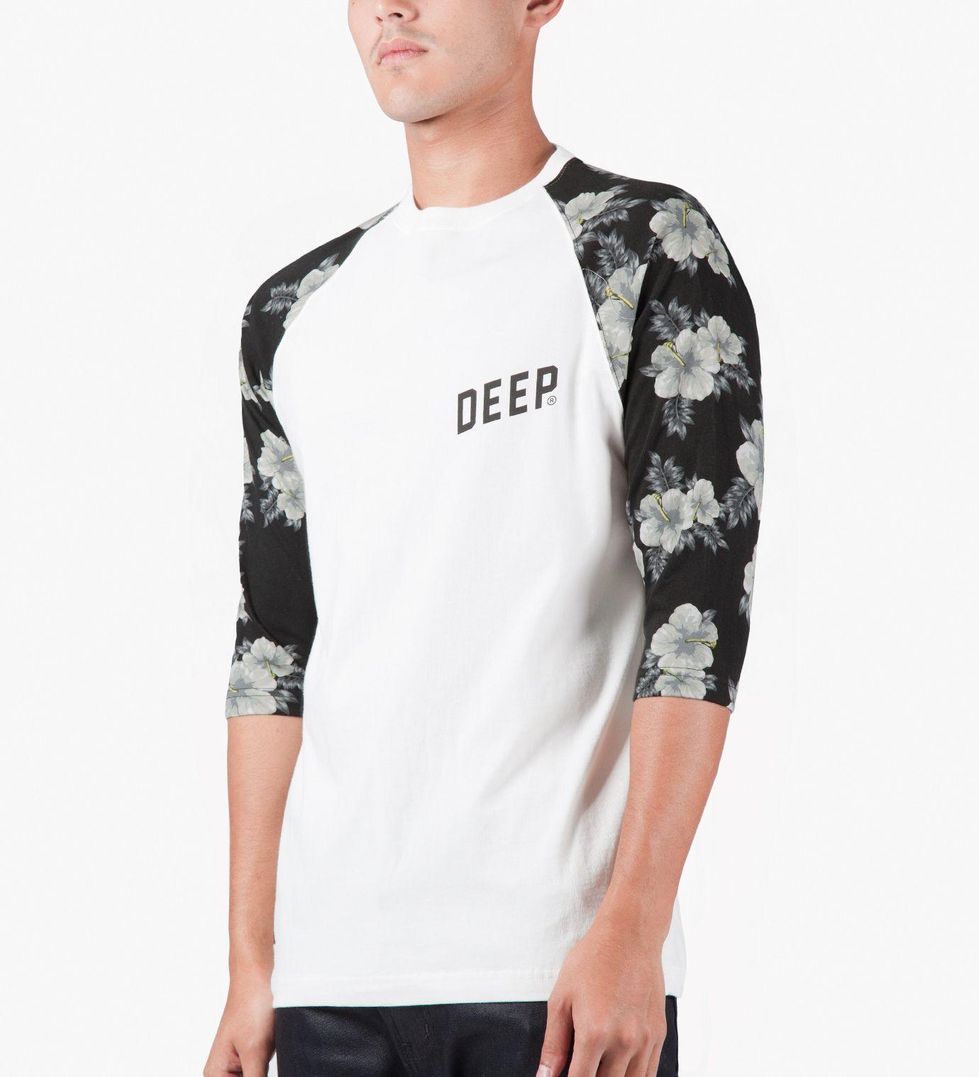 White Slope 3/4 Baseball TShirt Streetwear brands, T