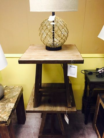 A great pair of end tables available at Karvonens Perham