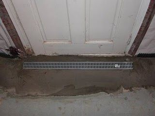 Unique Basement Entrance Drain