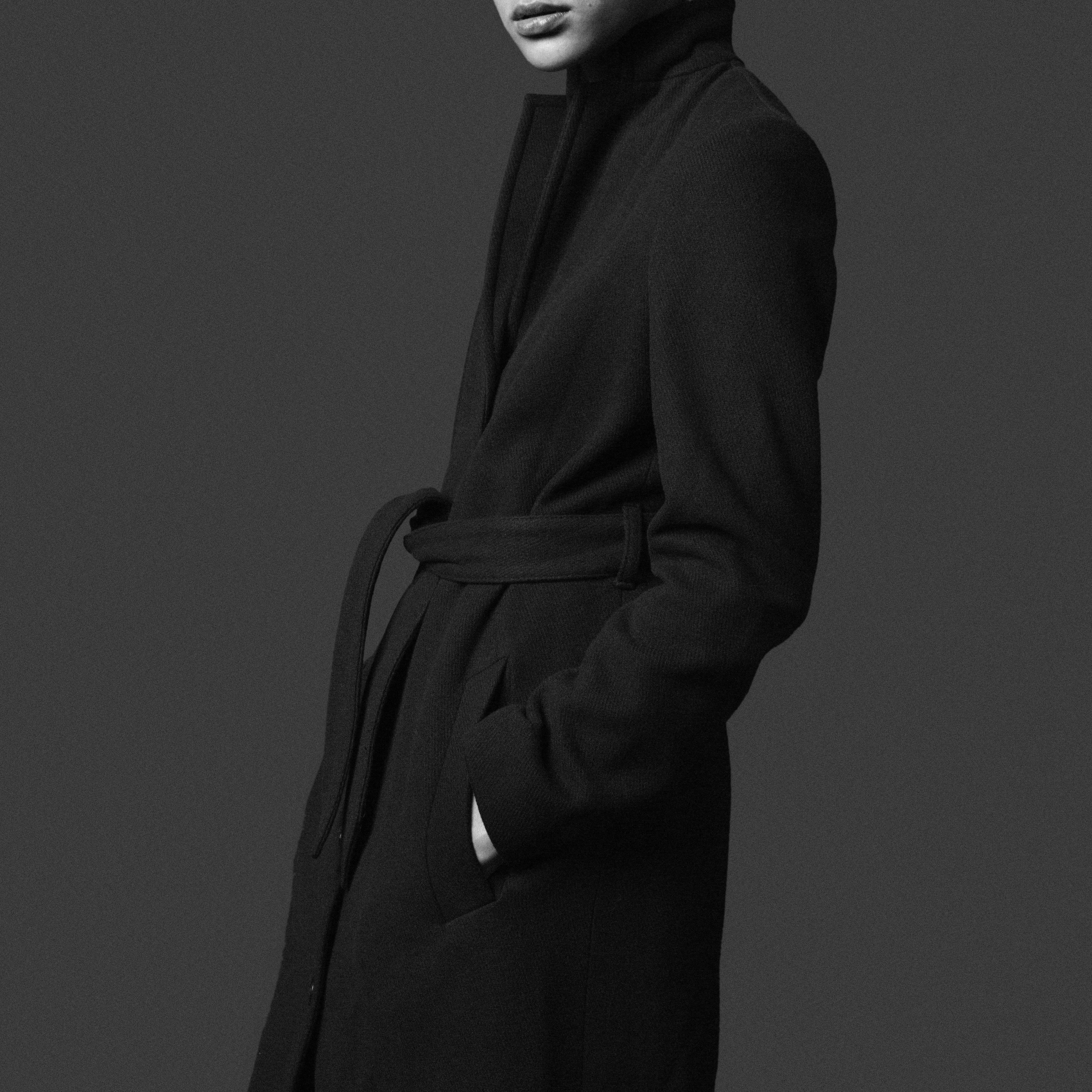 Filippa K x ZOO magazine, the Farrah belt coat