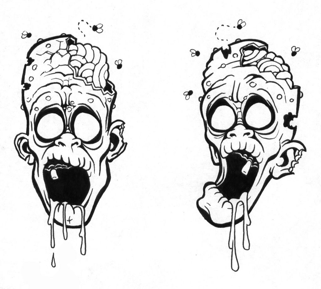 a1a5fccd0 Zombie Tattoo Outline zombie tattoo ink drawings for tattoo designs ...