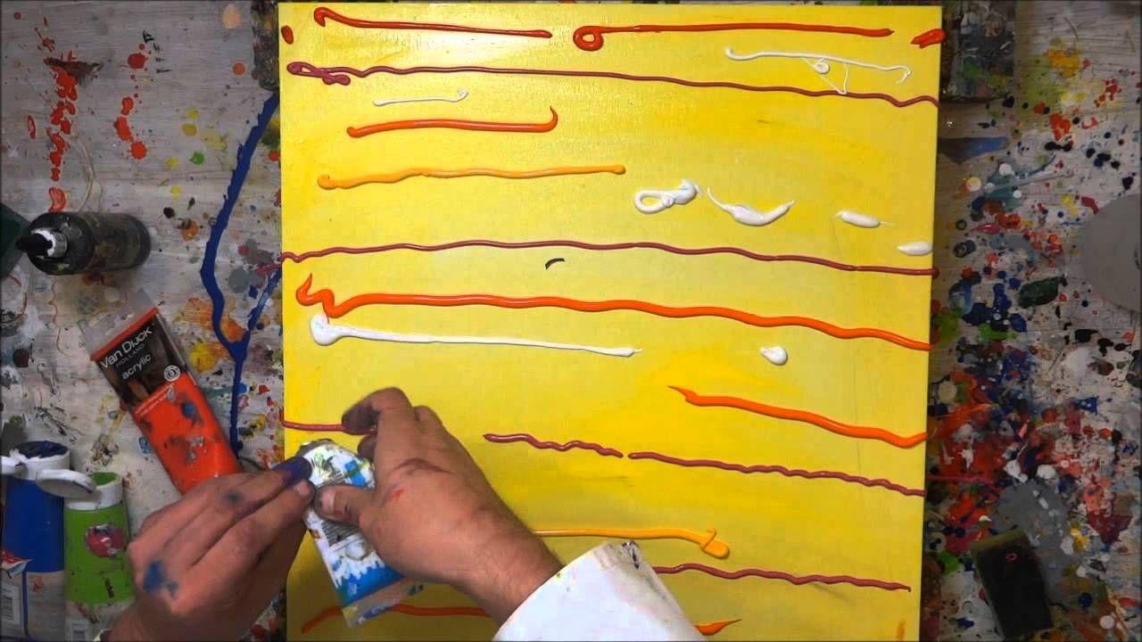 tutorial abstrakte kunst (5) - wir malen ein bild - acryl spachtel