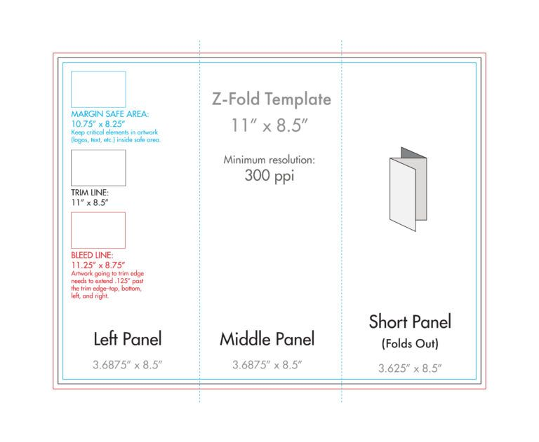 8 5 X 11 Z Fold Brochure Template U S Press Intended For 8 5 X11 Brochure Template Brochure Template Brochure Folds Brochure Design Template