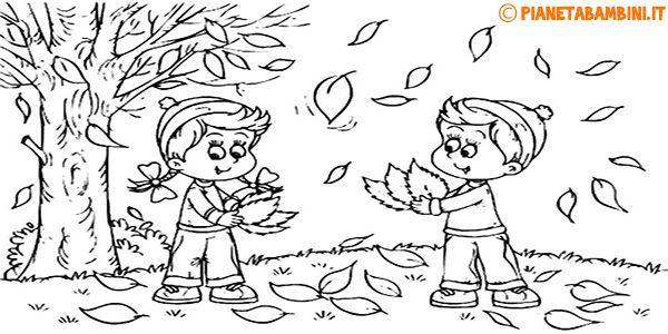 disegni da colorare di autunno da stampare