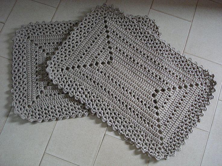 Resultado de imagen para tapete de crochê
