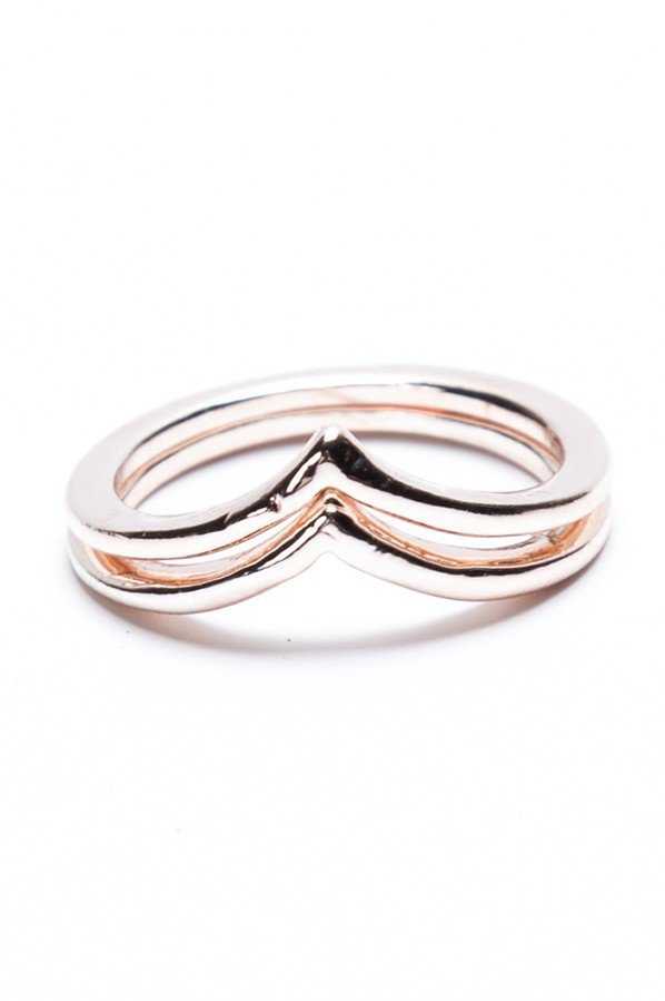 #Brandy Melville          #ring                     #Brandy #Melville #Rose #Gold #Chevron #Ring        Brandy ? Melville | Rose Gold Chevron 2 Ring Set                              http://www.seapai.com/product.aspx?PID=385232