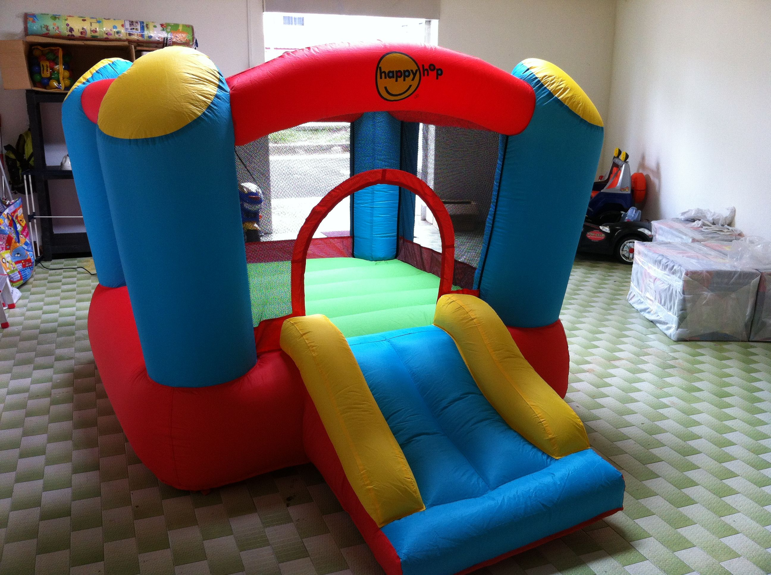 Jump and Slide Bouncy Castle in a Condo Apartment in Singapore