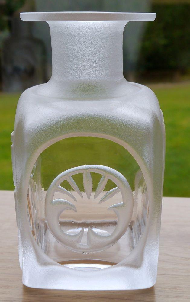 Kosta Boda Bottle Vase With Two Designs By Bertil Vallien Signed