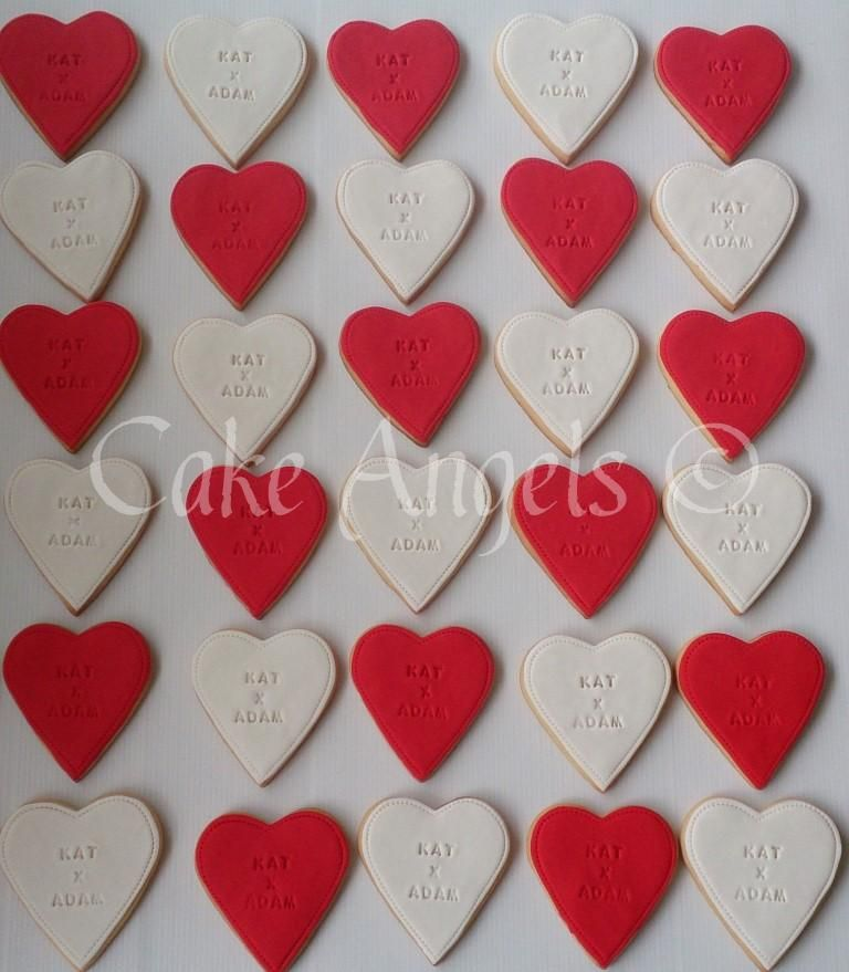 Wedding Gifts Auckland: Heart Shaped Engagement Cookies