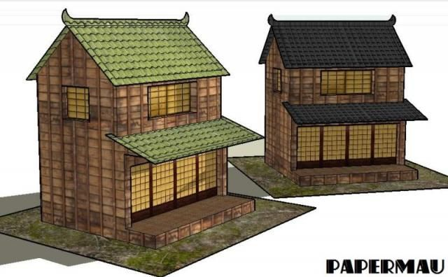 Japanese Traditional House Paper Model By Papermau Next