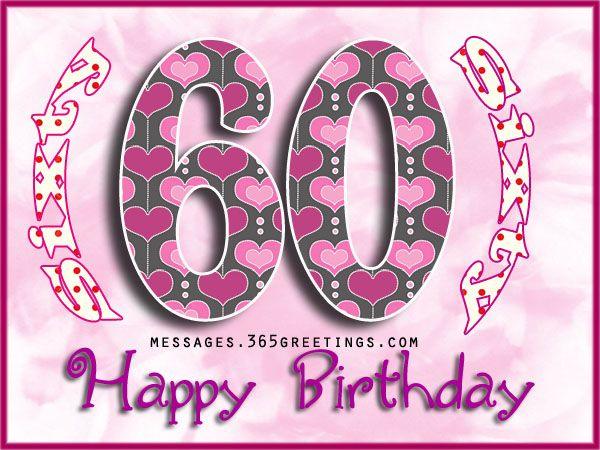 60th Birthday Wishes Quotes And Messages Birthday Pinterest