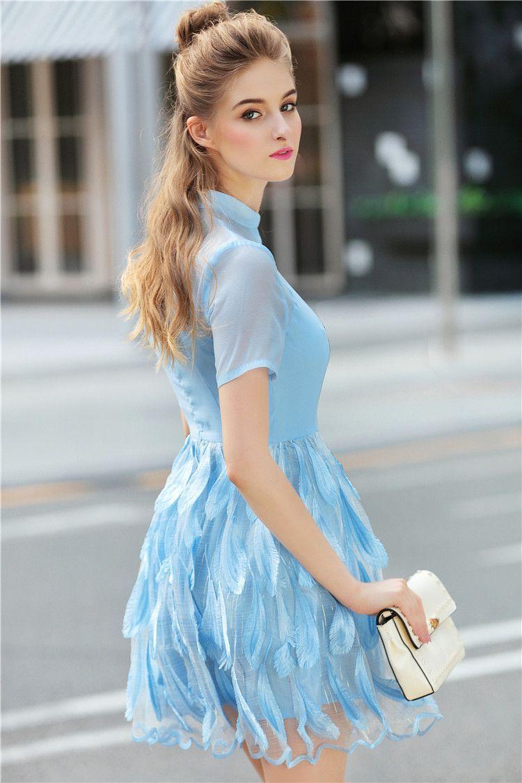 Sky Blue Elegant Dress