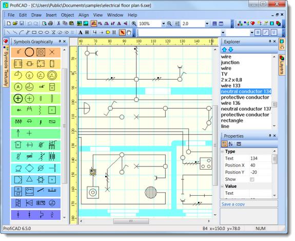 Proficad es un software para dise ar diagramas el ctricos for Software para hacer planos