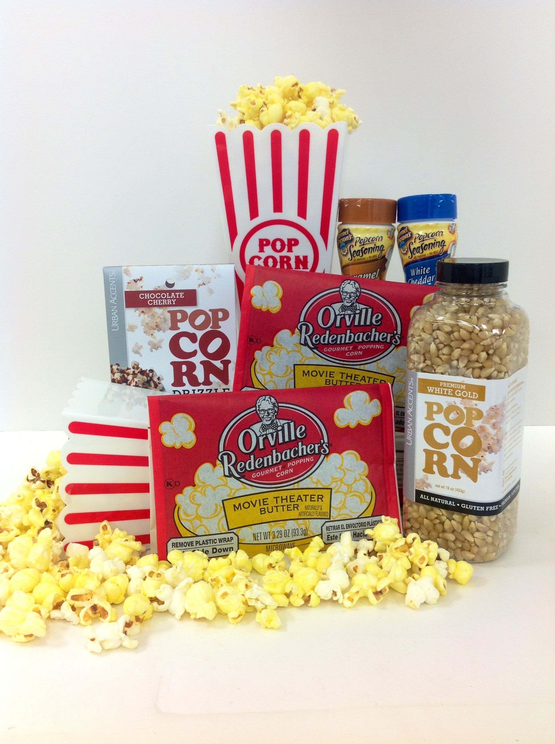 Popcorn gift basket gift basket ideas pinterest basket ideas popcorn gift basket negle Choice Image