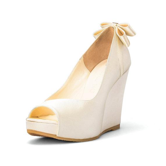Custom Made Wedges Ivory White Wedding Wedges Platform Wedges Bridal Wedding Wedges B Wedge Wedding Shoes Wedding Shoes Platform Beach Wedding Shoes Wedge