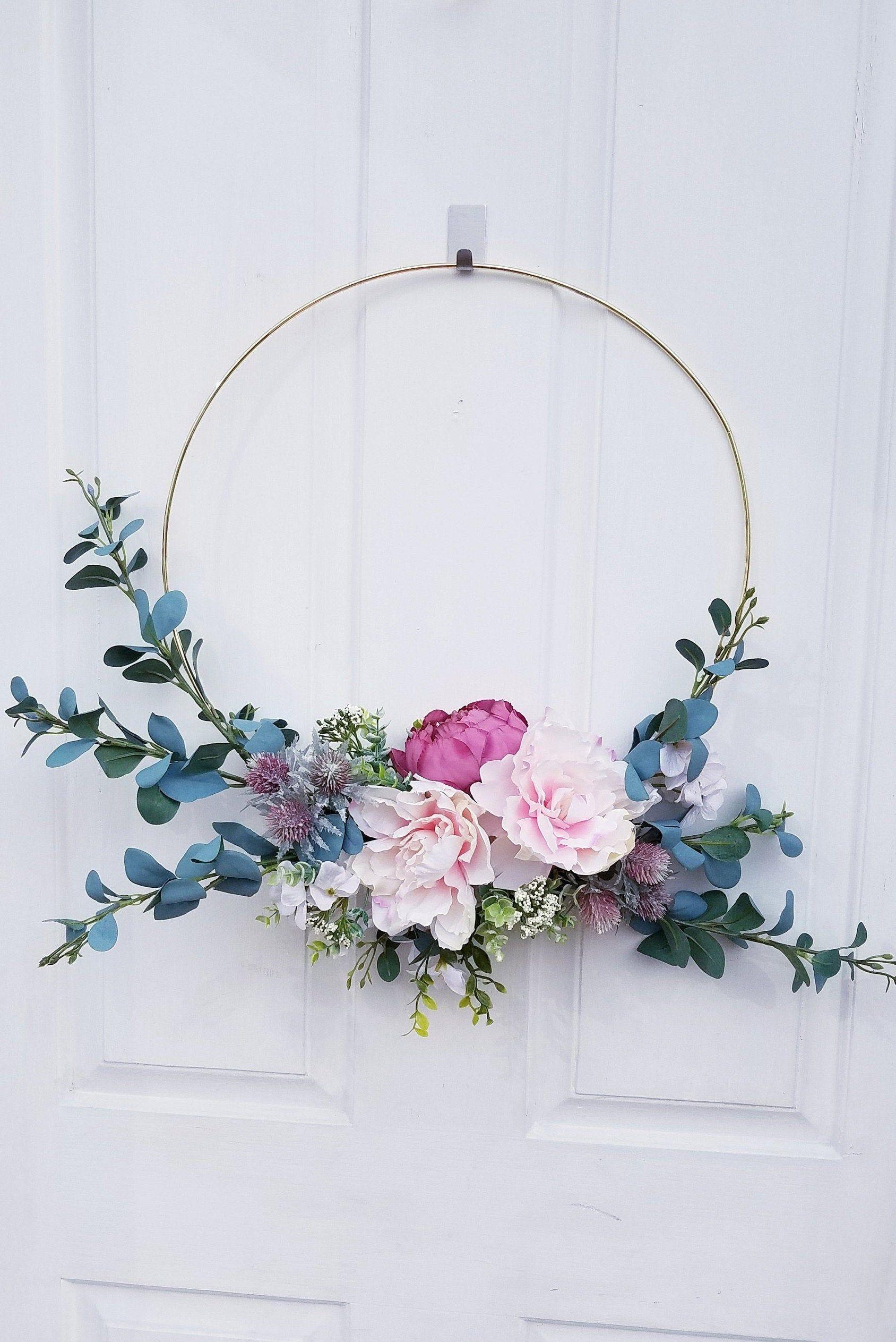 Modern Hoop Wreath Ring Wreath Door Hoop Wreath Nursery