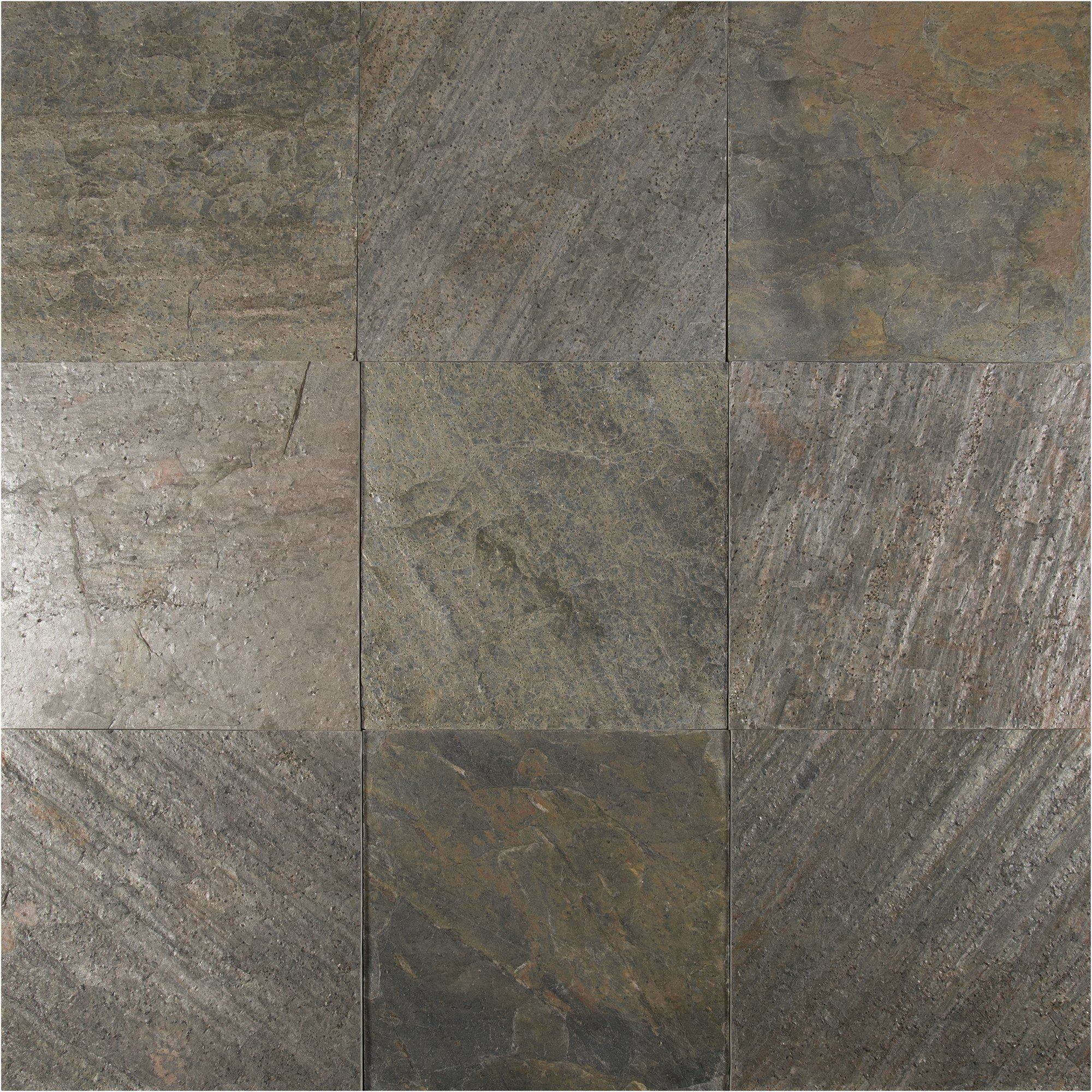 Ms international x natural stone field tile in ostrich grey