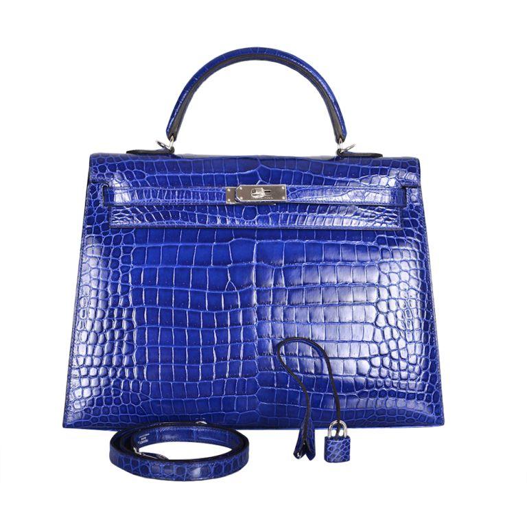 hermes kelly bag 35cm blue electric bleu electrique crocodile bags hermes kelly bag kelly. Black Bedroom Furniture Sets. Home Design Ideas